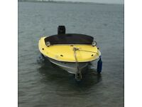 VINTAGE BROOM SPEED BOAT & TRAILER, 90HP MERCURY 'TOWER OF POWER'.. MONSTER FUN.!! DECENT OFFERS