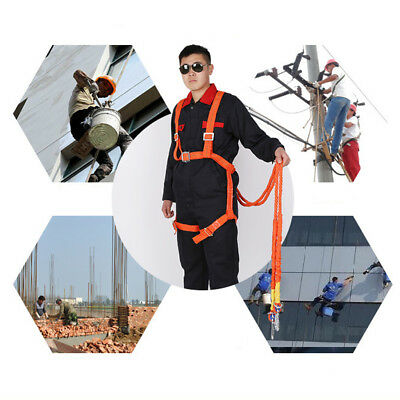Safety Work Full Body Harness Fall Protection Double Ropes And Hooks 100kg