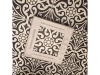 9 x large patterned Laura Ashley tiles (for toilet)