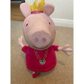 Pepper pig soft toy with sound effects