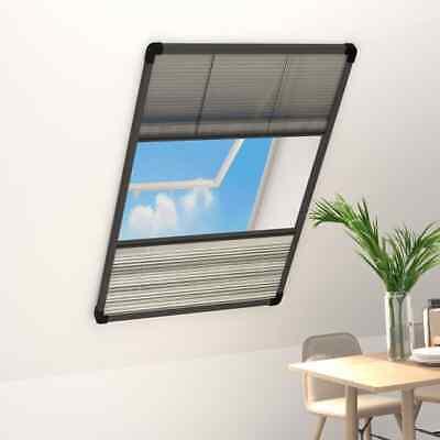 vidaXL Mosquitera Plisada para Ventanas Aluminio con Sombra 110x160 cm Rejilla