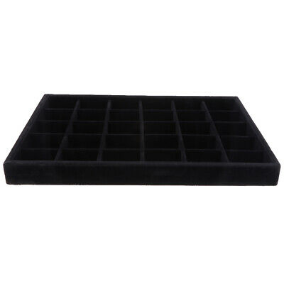 Elegant Bracelet Watch Jewelry Display Tray Storage Box Holder 30 Grids Black