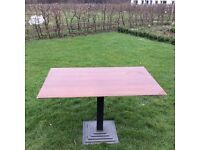 Cafe/Catering tables cast Iron base