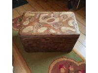 Handmade Wooden storage box made in a Totnes woodwork studio
