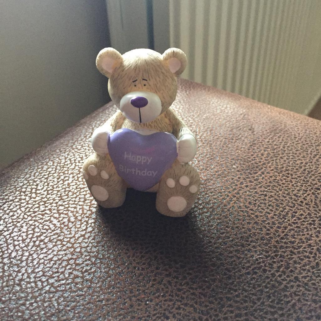 Happy birthday bear ornament