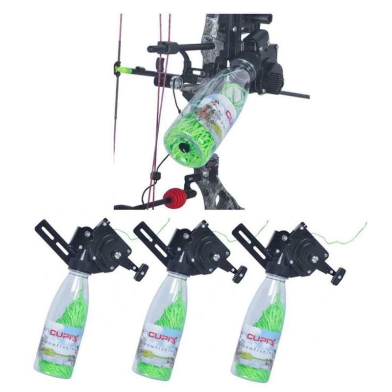 3 Archery Bow Fishing Reel Kit Compound/Recurve Bow Bowfishing Shooting Reel