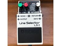 Boss LS2 Line Selector Electric Guitar/Bass effect switcher pedal