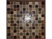 Beige Glass and Stone Mix Tile Mosaic