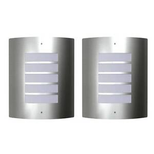 2 Stainless Steel Waterproof Wall Lights 60W 160162 Mount Kuring-gai Hornsby Area Preview