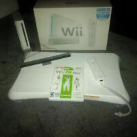 Nintendo Wii with Balance board, Wii Fit and 1 controller.