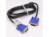 1.8M VGA SVGA 15 Pin MALE TO MALE PC MONITOR TV LCD PROJECTOR To TFT CABLE LEAD