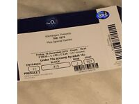 2 x the 1975 tickets - london 02 - 16/12/2016 - seated