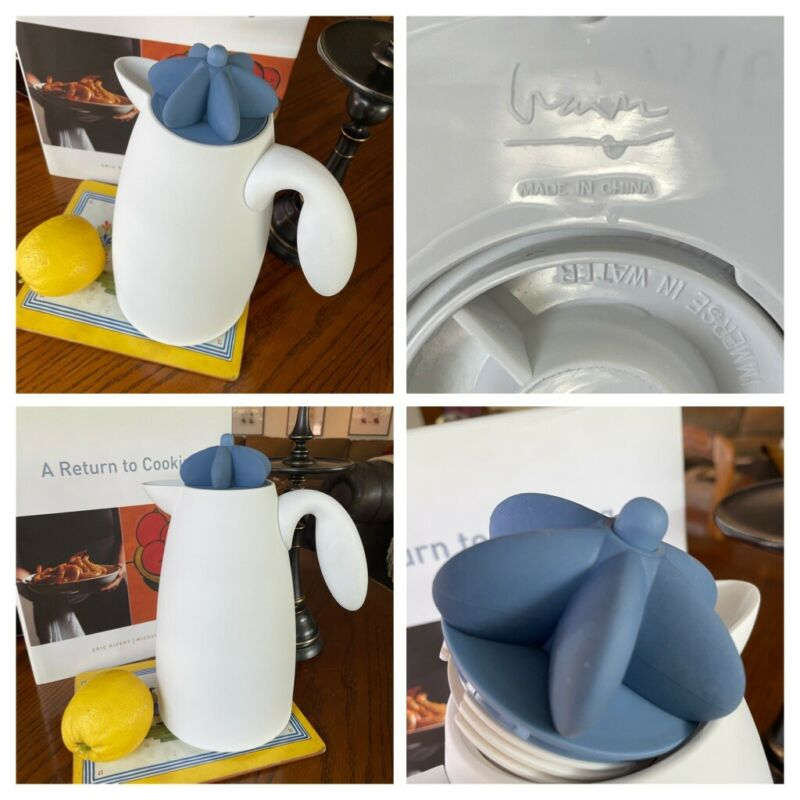 Michael Graves Bright White Thermal Carafe Modern Retro Design