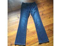 Biba designer women's jeans. Size 14 dark blue