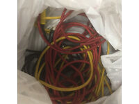 Job lot various pro audio and computer cables