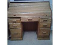 Solid oak writing desk