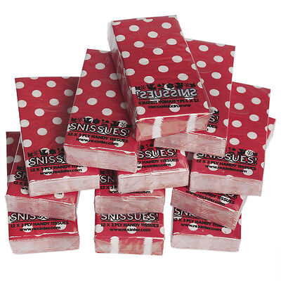 dotcomgiftshop 12 PACKS OF RED RETROSPOT TISSUES. PARTY BAG FILLERS