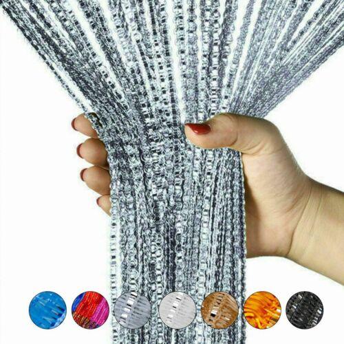 2M Glitter String Door Curtain Beads Room Dividers Beaded Fr