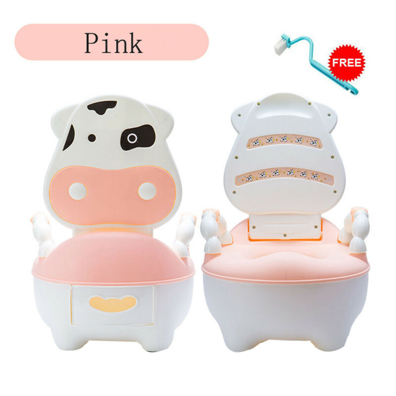 Home Lovely Cute Cow Potty Chair For Boys Girls Toddler Pott