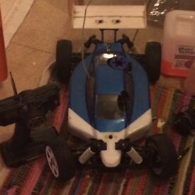 Two Nitro 1/8 Scale Radio Controlled Cars