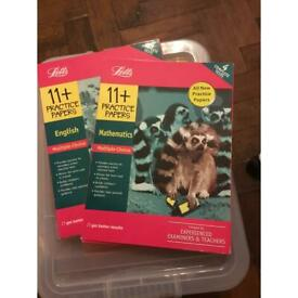 Letts 11+ Practice papers English & Letts 11+ Practice papers Mathematics