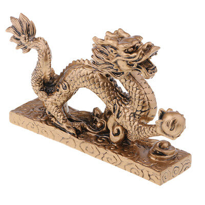 Chinese Fengshui Bronze Longevity Dragon Turtle Wealth Lucky Craft Decor