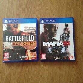 Mafia 3 and Battlefield Hardline for PS4