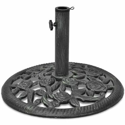vidaXL Umbrella Base Cast Iron 12kg 48cm Outdoor Patio Parasol Stand Holder
