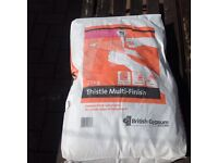 Two plaster board sheets with 2 bags of multi finish 25kg
