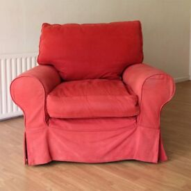 Red arm chair available for free
