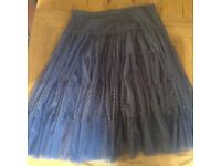 Lovely grey net boho skirt