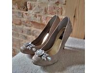 Beautiful High Heel Occasion Shoes with Jewels, Size 5 - Great Condition, Only worn once