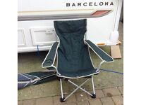 Folding chair fishing camping caravan outdoor events