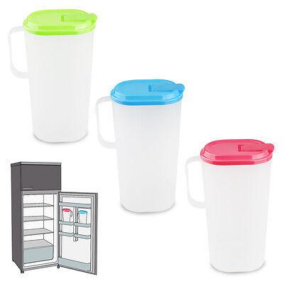 Fridge Door Jug Drinks Easy Pour Container Beverage Water Juice Milk Pitcher Lid