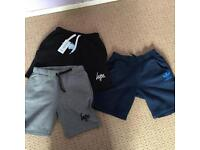 3 pair of boys shorts, adidas and hype age 11-12 years