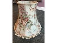 Large Vintage Floral Lampshade