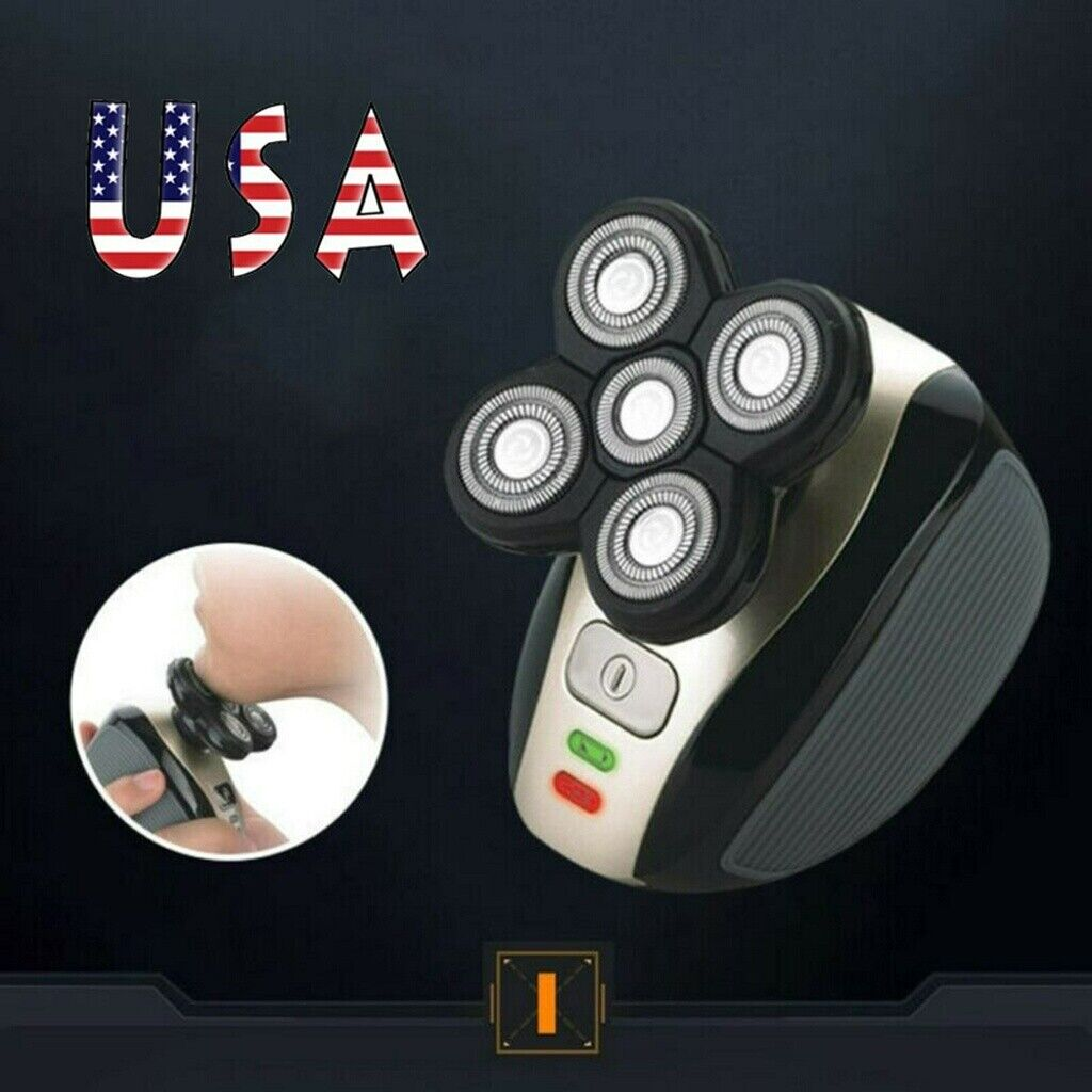 5 in 1 4d electric rotary shaver