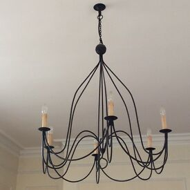 Beautiful ceiling chandelier and 2 matching wall lights