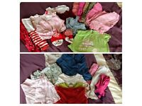 6-12 months girls bundle of clothes