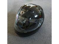 M.Robert. Motorcycle helmet, black, 57-58cm