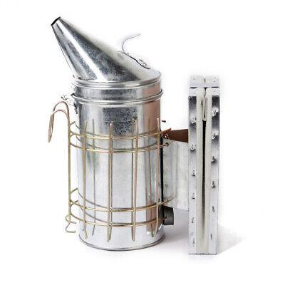 Bee Hive Smoker Stainless Steel W Heat Shield Beekeeping Tool Equipment