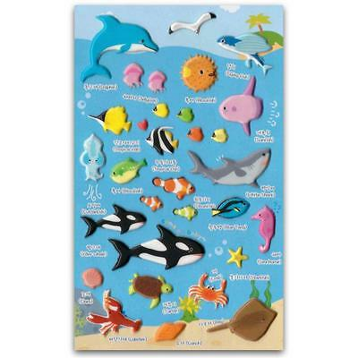Süß Meeresleben Sticker Ozean Tiere Fisch Basteln Scrapbook Gehoben ()