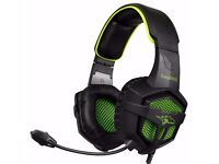 PS4 Gaming Headset Comfortable Stereo Wired Headphones with Mic Noise Cancellation