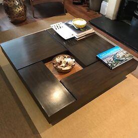 Designer square coffee table 100x100