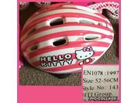 52-56cm hello kitty girls cycle helmet