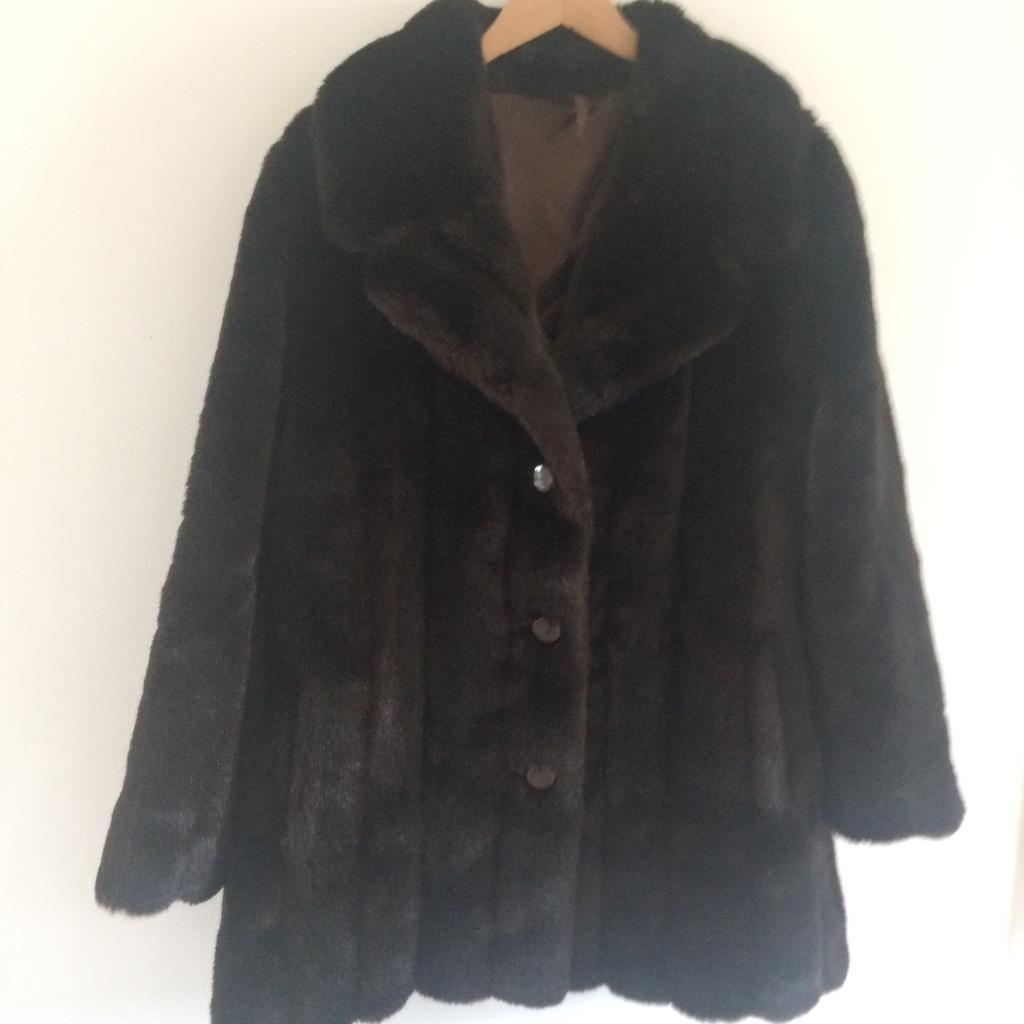Astraka Vintage Faux Fur Coat