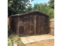 Excellent condition wooden shed - 16ft x 10ft