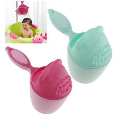 Baby Dippers Bath Rinse Cup Kids Shower Shampoo Scoops Sprinkler Bottle