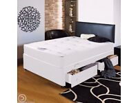 * __ DOUBLE SIZE DIVAN BEDS ** __ BASE + FULL ORTHOPEDIC MATTRESS __ SAME DAY DELIVERY