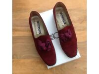 Burgundy Suede 'Roland Cartier' Shoes for sale